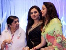 Lata Mangeshkar along with Rani Mukerji, Hema Malini during the Yash Chopra National Memorial awards Photos