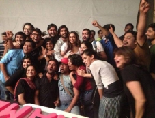 Ram Leela film cast and crew members on the last day of shooting Photos