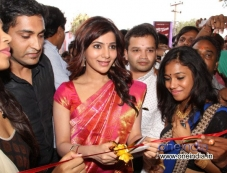 Samantha Launched Kalamandir Showroom Photos
