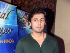 Sonu Nigam during the music launch of Hindi dubbed Japanese film The Mystical Laws Photos