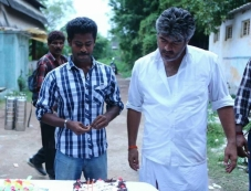 Ajith Kumar's Veeram Shoot Spot Assist Director Gokul Birthday celeberations Photos