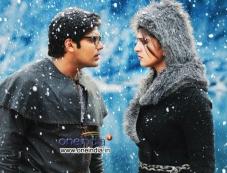 Arya and Anushka Shetty in Tamil Movie Irandam Ulagam Photos