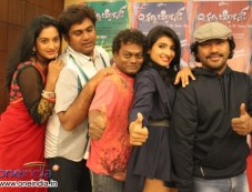 Ashwini, Rangayana Raghu, Sadhu Kokila, Rupa Sri, Arjun Janya at Chaddi Dosth Press Meet Photos