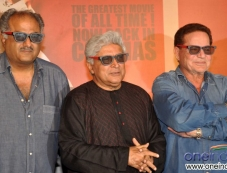 Boney Kapoor with Salim Khan and Javed Akhtar at Sholay 3D film trailer launch Photos