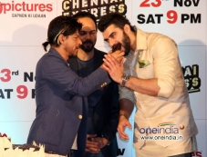 Shahrukh Khan shares the cake with Nikitin Dheer at  Chennai Express success party with Zee TV Photos