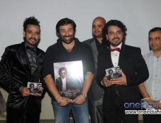 Sharib and Toshi with Sunny Deol and Prashant Kumar (Bluenote Entertainment) at the album release Photos