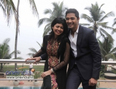Shreyas Talpade along with his wife Deepti at his second home production launch Photos