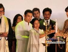 West Bengal Chief Minister Mamata Banerjee with actors Amitabh Bachchan, Kamal Hasan and Shahrukh Kh Photos