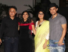 Aamir Khan and Kiran Rao during the Mansoor Khan anniversary celebrations Photos