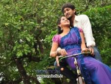 Ajay Rao and Harshika Ponacha in Kannada Movie Advaitha Photos
