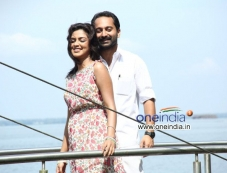 Amala Paul and Fahad Fazil in Malayalam Movie Oru Indian Pranayakatha Photos