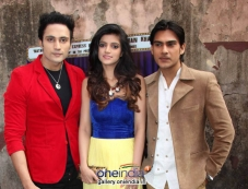 Bollywood actors Zubair Khan, Anjali Arora and Shresth Kumar Photos