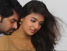 Jai and Nazriya Nazim still from film Thirumanam Ennum Nikkah Photos