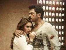 Karthi and Hansika Motwani still from Biriyani Movie Photos