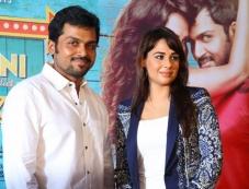 Karthi and Mandy Takhar during the Biryani film press meet at Cochin Photos