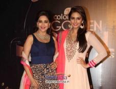 Madhuri Dixit and Huma Qureshi at Colors Tv 3rd Golden Petal Awards 2013 Photos