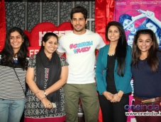 Sidharth Malhotra poses with his fans during the Hasee Toh Phasee film promotion Photos