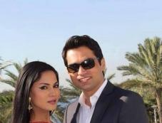 Veena Malik and Asad Bashir Khan wedding reception Photos