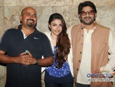 Soha Ali Khan and Arshad Warsi during the special screening of film Mr Joe B Carvalho Photos