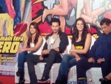 Ileana D'Cruz, Varun Dhawan and Nargis Fakhri at the Main Tera Hero film trailer launch Photos