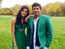 Erica Fernandes and Puneeth Rajkumar in Kannada Movie Ninnindhale Photos