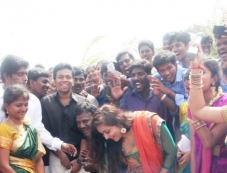 Namitha's Pongal Celebration at SMK Fomra college Photos