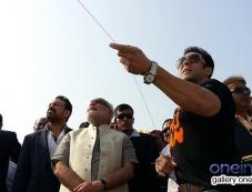 Salman Khan with Narendra Modi fly kites during the Makar Sankranti (Kite Flying Day) celebration Photos