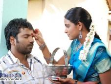 Sathish Ninasam and Subhiksha in Kannada Movie Anjada Gandu Photos