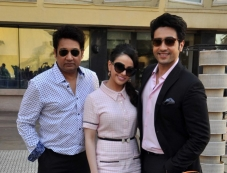 Shekhar Suman, Ariana Ayam and Adhyayan Suman during a panel discussion on Anaesthesia Awareness Photos