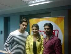 Sidharth Malhotra and Parineeti Chopra promotes Hasee Toh Phasee film on Fever 104 FM Photos