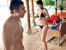 Uday Chopra and Nargis Fakhri holidaying in Maldives Photos