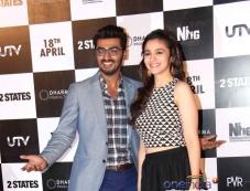 Arjun Kapoor and Alia Bhatt's film 2 States trailer launch Photos