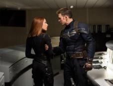 Scarlett Johansson and Chris Evans still from Captain America The Winter Soldier Photos