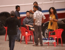 Dhanush and Karan snapped shooting for R Balki's untitled film Photos