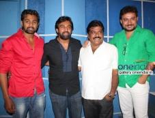 Dhruva Sarja, Chiranjeevi Sarja, Producer K Manju at Rudra Tandava Movie Press Meet Photos