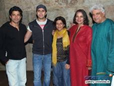 Farhan Akhtar and his family at Shaadi Ke Side Effects film special screening Photos