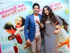 Farhan Akhtar and Vidya Balan promote Shaadi Ke Side Effects in Dubai Photos