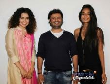 Kangna Ranaut, Vikas Bahl and Lisa Hadyon promote Queen at Mehboob Studio Photos