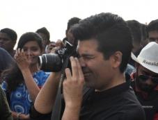 Karan Johar shoots for TV show Mission Sapne at Gateway of India Photos