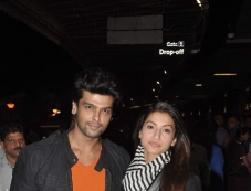 Kushal Tandon and Gauhar Khan leave for South Africa Photos