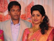 Meera Jasmine and Anil John Titus wedding reception Photos
