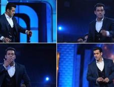 Mixed Reaction of Salman Khana at Star Guild Awards 2014 Photos
