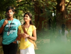 Nakul and Mrudhula Basker still from film Vallinam Photos