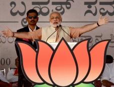 Narendra Modi Bharatha Gellisi rally in Karnataka Photos