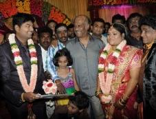 Rajinikanth at Stunt Master Kittu daughter Marriage Reception Photos