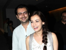 Sahil Sangha and Dia Mirza at Shaadi Ke Side Effects special screening Photos