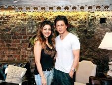 Shahrukh Khan at wife Gauri KhanThe Design Cell store launch Photos