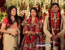 Radhika Kumaraswamy at SV Babu son Sanjay Babu marriage reception with Soundarya Photos