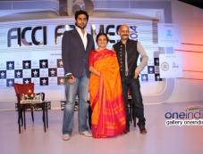 Abhishek Bachchan, Bhawana Somaaya and Vijay Krishna at FICCI Frames 2014 - Day 2 Photos