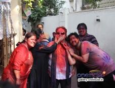 Bappi Lahiri with is family celebrates Holi 2014 Photos